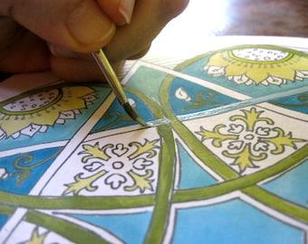 Special Handmade Mandala Coloring Book - Kids Coloring - Kids Activity - Kids Gift - Whimsical Coloring - Mandala Color Book