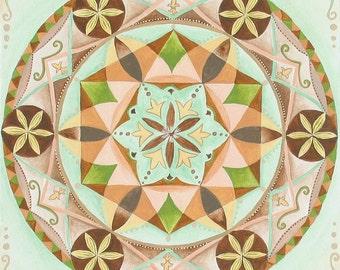 Healing mandala -Fine Art Signed Print