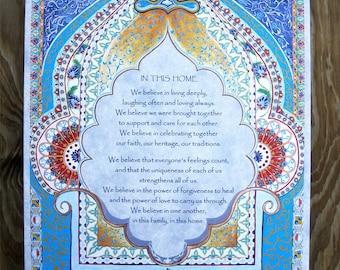 Home Blessing  - Blessing Mandala - New Home Gift - New House Gift -New Age Home Gift -Alternative House Gift - House Blessing
