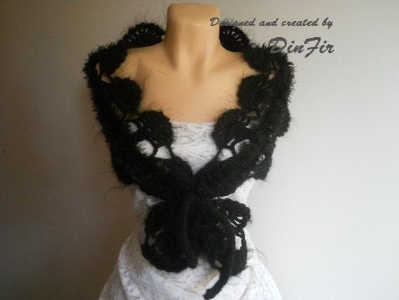 WOMEN  CROCHETED  SCARF,  Women Muffler Scarf,  Women  Crocheted Loop Scarf, Elegant Crocheted Scarves, Cold Season Accessories