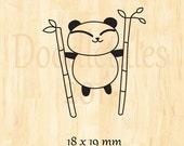 Cute panda rubber stamp