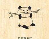 Eating panda rubber stamp