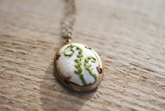 Fiddlehead Fern Pendant, Fern Necklace, Green necklace, eco fashion