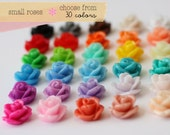 YOU CHOOSE 100 pcs Small Rose Cabochon Sampler Set 10mm