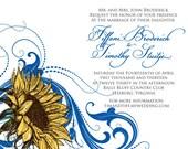 Sunflower Swirl - Wedding Invitation
