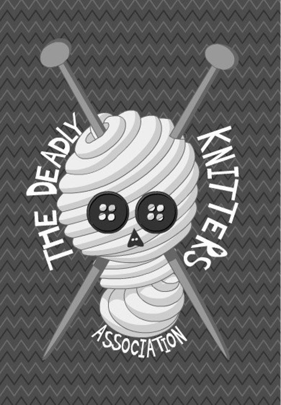 Illustration Yarn Halloween Mini Print - The Deadly Knitters Association