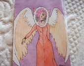 ACEO Original Drawing Angel Kitty by JSyv
