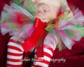 JINGLE BELL ROCK Christmas tutu with matching headband, newborn tutu through size2T