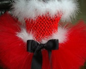 SANTA BABY Christmas tutu dress with headband, size nb up to 24 month...Beautiful for newborn photos, Pictures with Santa