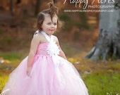 Pink TuTu Dress... Flower girl dress, Easter dress, Pageant Dress or Photography prop