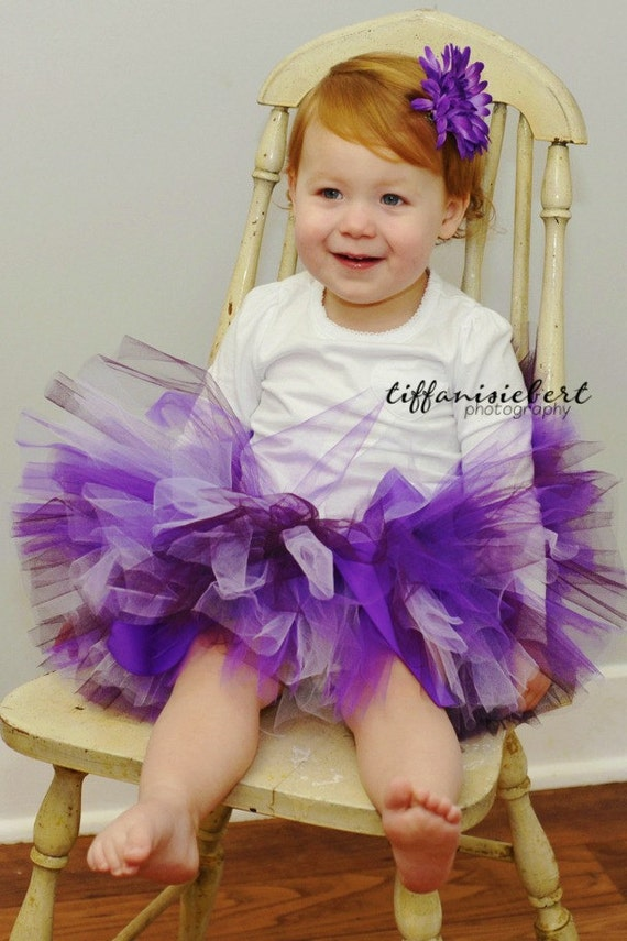 PURPLE BIRTHDAY tutu....Great  for Birthday Girl, Photography Prop or Gift