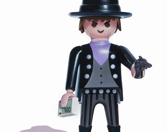 Bank Robber Print, Boys Wall Art, Playmobil Art Print, Toy Art Print, 8x10 Art Print, Kids Room Decor, Playmobil Art Print, Boys Room Decor