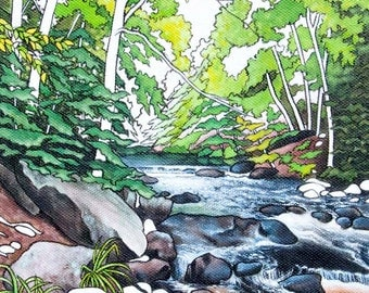 Gone Camping - 'Sutbb's Falls', 5 x 7 Archival Print