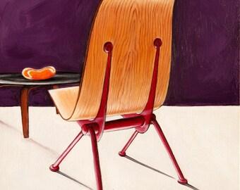 Midcentury Chair Print, Midcentury Modern Art, Modern Chair Print, 8 x 8 Print, Chair Wall Art, Vintage Chair Print, Vintage Chair Art
