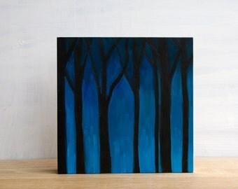 Sale - 'Tree Silhouettes' Original Painting by Mara Minuzzo