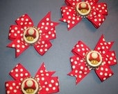set of 8 Mario hairbow party favors