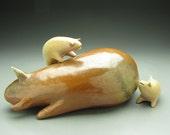 Hide and Seek - an original handmade sculpture