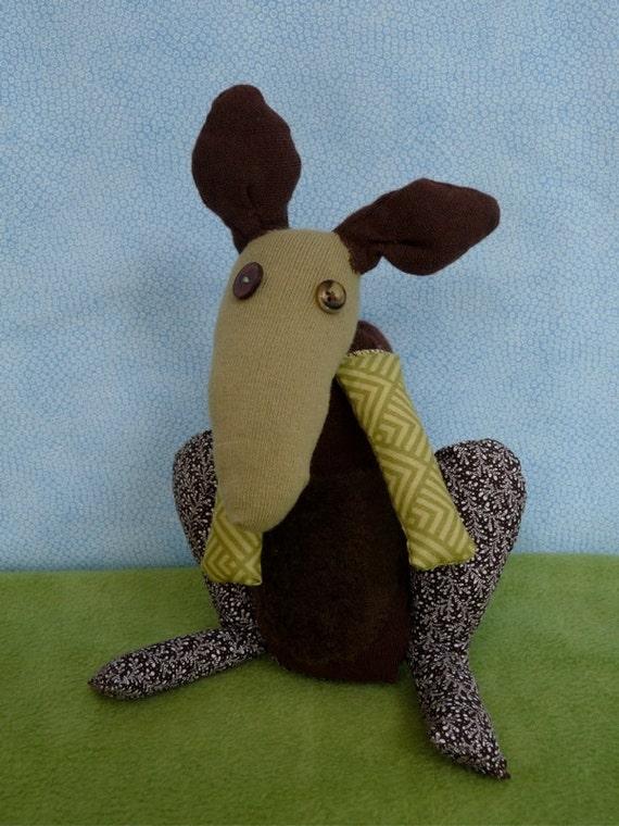 OOAK rooney handmade recycled kangaroo stuffed animal