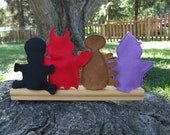 DIY Halloween Puppet Kids Craft Kit w Skeleton Lil Devil Spider Witch