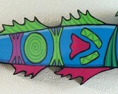 Blue barracuda wall hanging