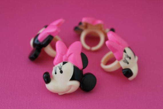 24 Minnie Mouse Cupcake Topper Rings