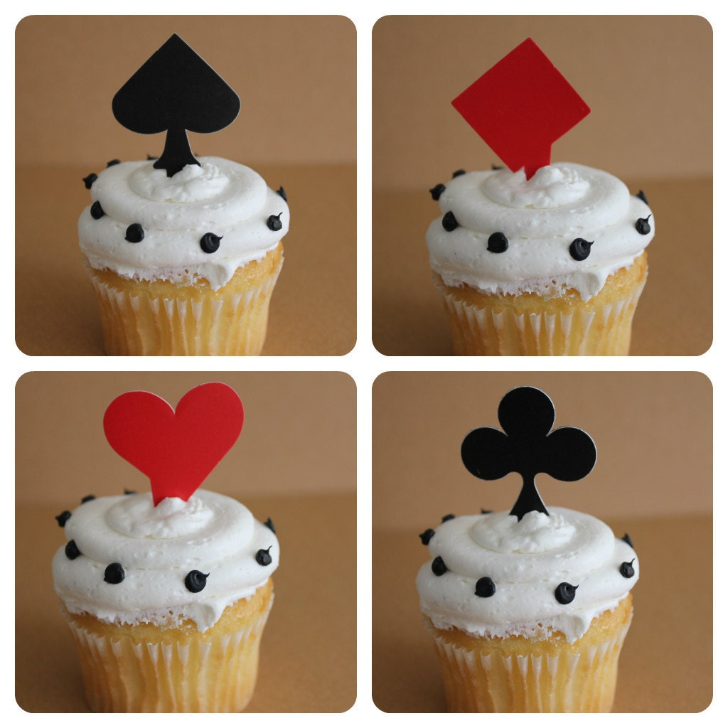 24 Playing Card Cupcake Topper Picks Perfect For Casino