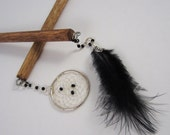 Black and White Dream Catcher Hair Sticks