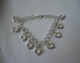 Floating Hearts Bracelet