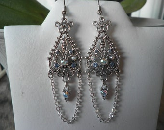 Swarovski Crystals Pendant Earrings