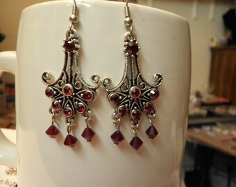 Sale Swarovski Crystal Anchor Earrings