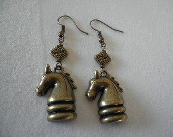 The Knight Chess Piece Earrings