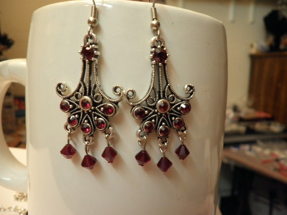 Swarovski Crystal Anchor Earrings
