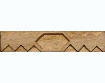 Oshiwa Carved Wood Printing Stamp, African Design, 4.5'' x 1'', Item 18-12-53