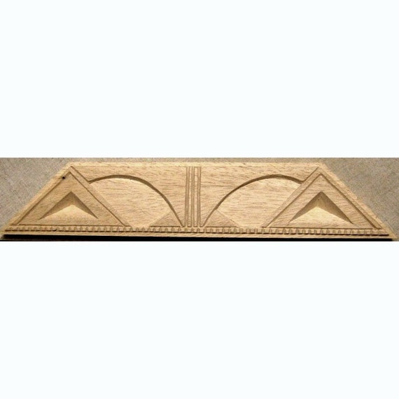 Oshiwa Carved Wood Printing Stamp, Tribal Design, 13.25''x 2.5'', Item 22-2-111