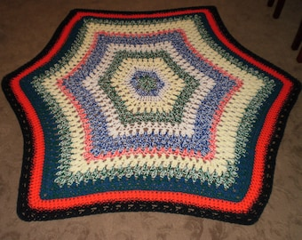 Reduced for clearance! 50% OFF...Star-shaped afghan