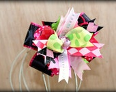 Bright and Beautiful Bow - Glam Bow, Pageant Hair, Photo Prop, Summer Bow