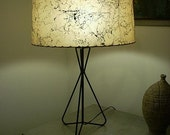 SWEET Two Tiered Fiberglass Shade Table Lamp
