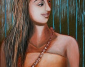 Mendicant - Print of original painting figurative art oil on canvas