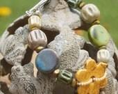 All Flowers and Sunshine - Summer Ceramic Bracelet
