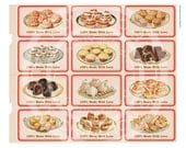 Vintage Tea Party Gift 100 Handmade Birthday Cakes Cupcakes Shop Labels Candy bag Hanging Gift Tags Digital Collage Sheet Images Sh020
