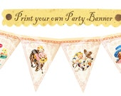 Vintage Cowgirl Cowboy Birthday Baby shower Tea Party Celebrate Story book Banner Flag Burlap Postcard Digital Collage Sheet Images Sh241