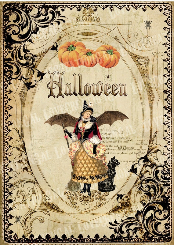 Ridiculous image intended for vintage halloween printable
