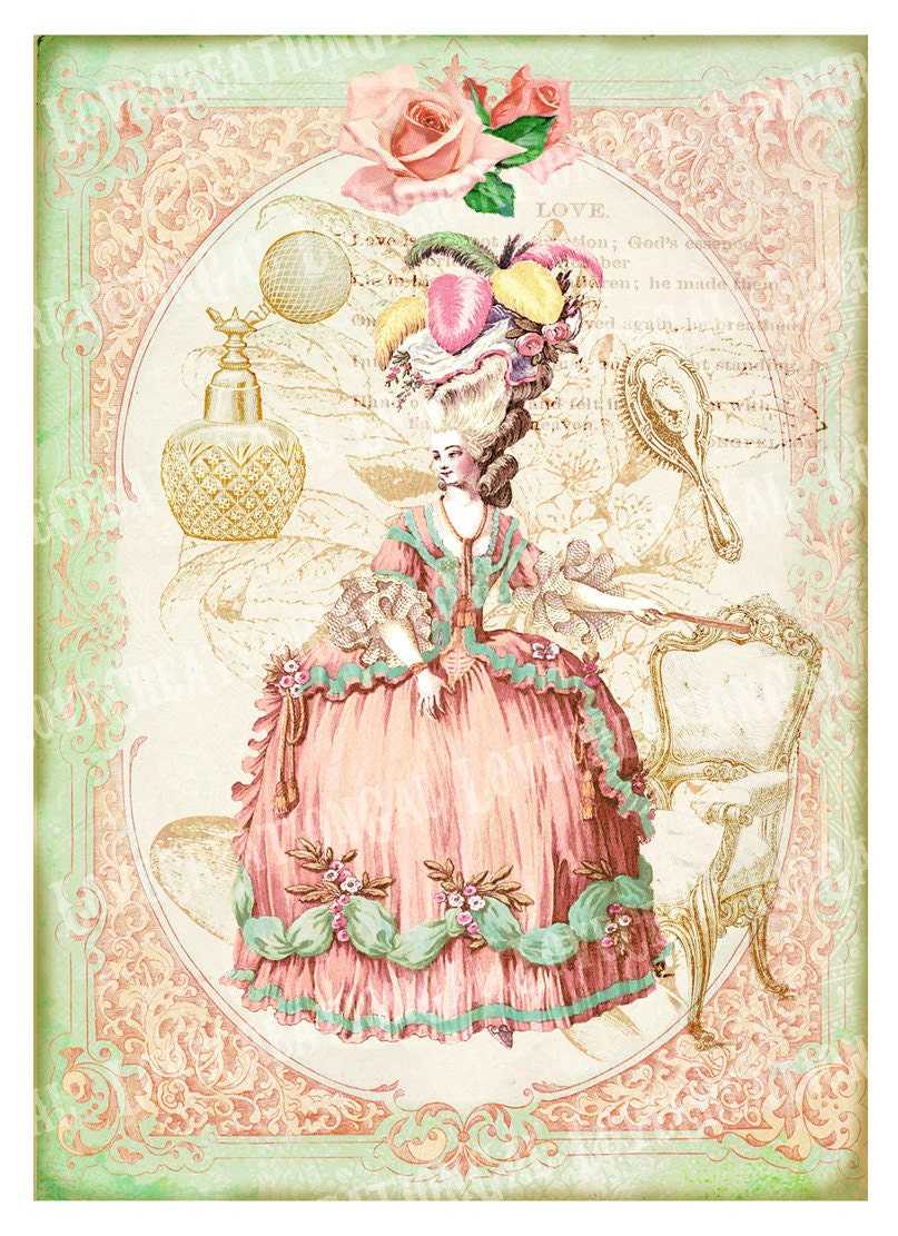 This is a picture of Playful Free Printable Vintage Images