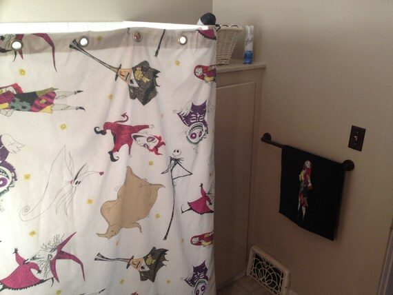 Nightmare Before Christmas vintage shower curtain by jessisdresses
