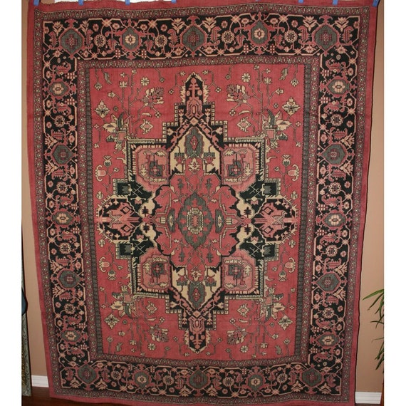 Antique tapestry arts and crafts mission style table rug wall for Arts and crafts style rug