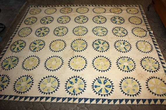 Antique Patchwork Quilt Mid 19th Century 1840-1880 to Restore
