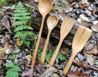 Handmade Cherry Utensils - Gift Set of 4