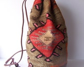 Vintage Southwestern Ethnic Bucket Backpack