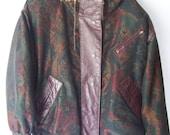 Vintage Southwestern Fur Hooded Jacket