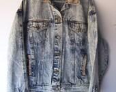 Vintage Distress Tapestry Denim Jacket